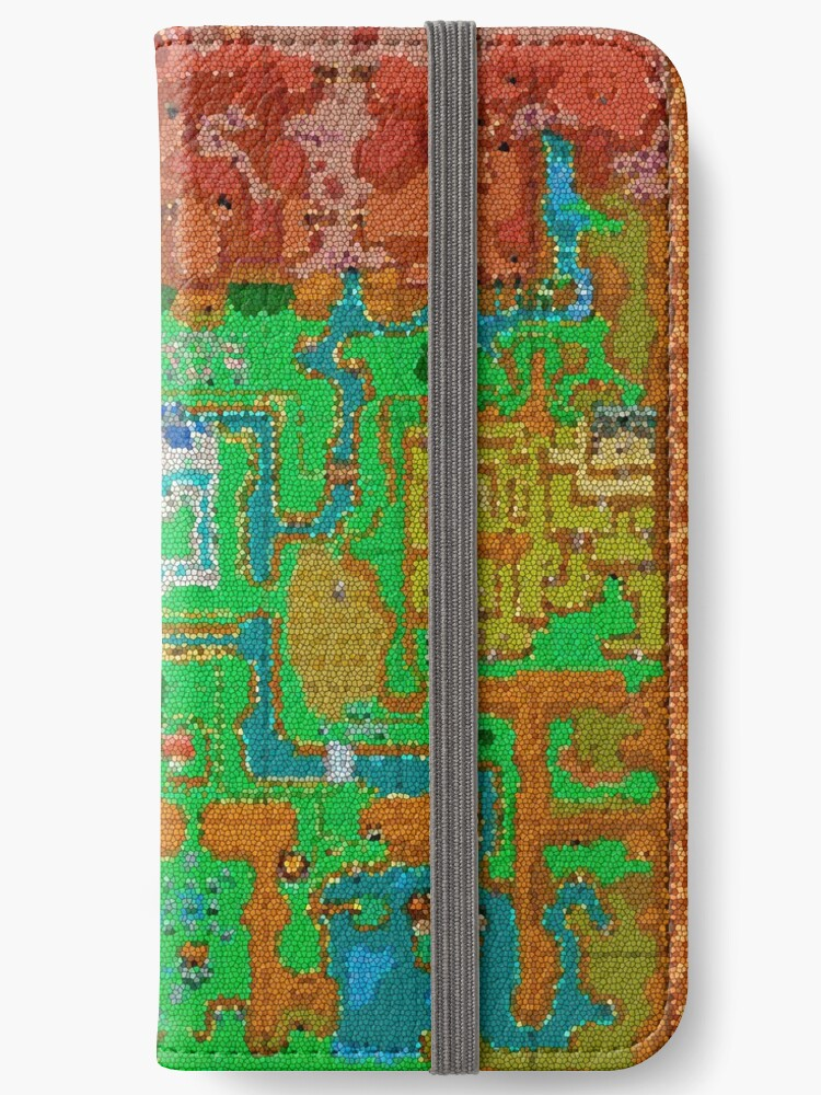 \'Mosaic Hyrule Map | The Legend of Zelda: A Link Between Worlds\' iPhone  Wallet by surik-