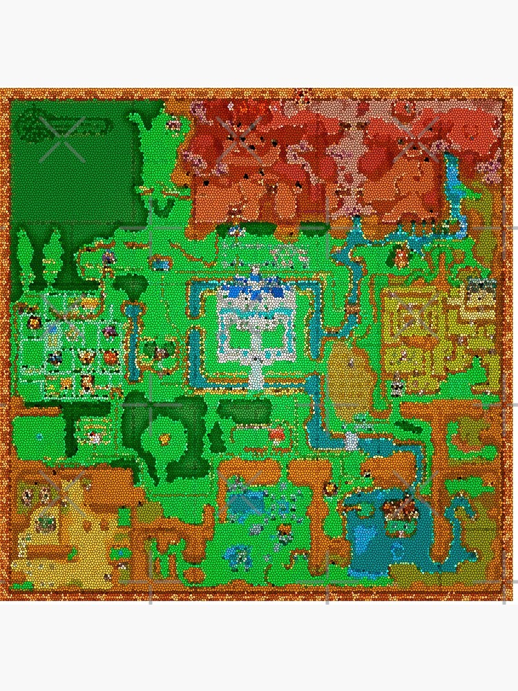 Mosaic Hyrule Map | The Legend of Zelda: A Link Between Worlds | Art Board  Print