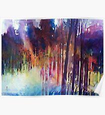Wald von Lampi di luce Nella Poster