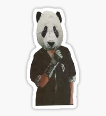 Rad Power Glove Panda Love Sticker