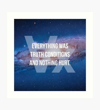 Truth Conditions Art Print