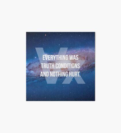 Truth Conditions Art Board
