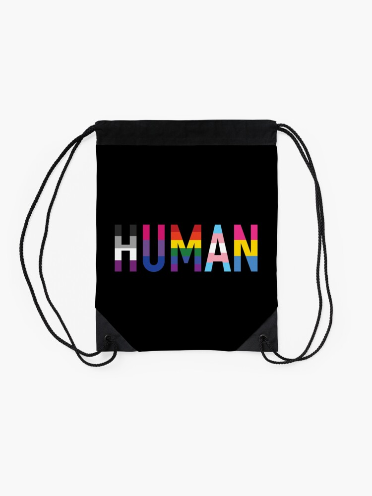 Alternate view of Human, LGBT+ Drawstring Bag