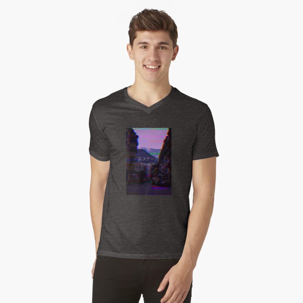 Escapar Camiseta de cuello en V