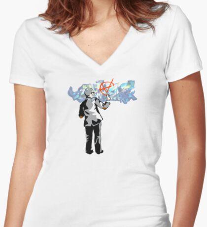 Free Logic Women's Fitted V-Neck T-Shirt