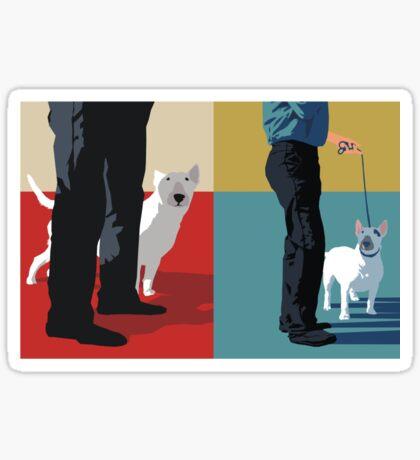 Bull terriers Sticker