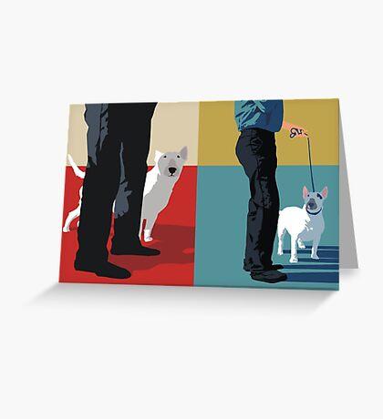 Bull terriers Greeting Card