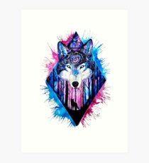 Wolfskunst Kunstdruck