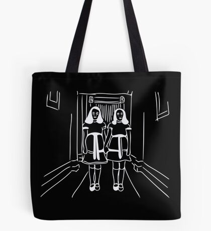 Frenchtoastygood Shining Twins Come Play With Us, Danny Tote Bag