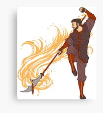 Hawke as a Firebender Canvas Print