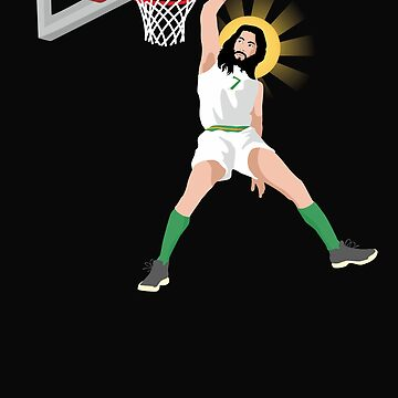 Funny Jesus Christ Basketball Slam Dunk Christian Humor by Essetino