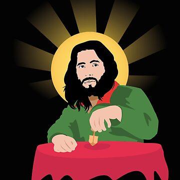 Funny Jesus Was A Jew Dreidel Jewish Hanukkah by Essetino