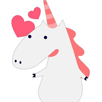 Cute Unicorn Valentine's Day Love Heart Gift Women Girls by seanicasia