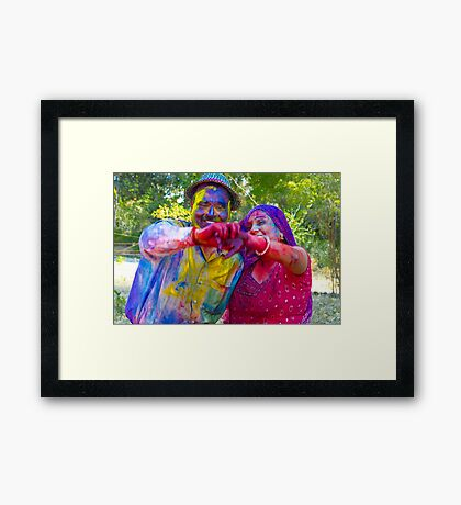 Holi-The Festival of Colors and Joy Framed Print
