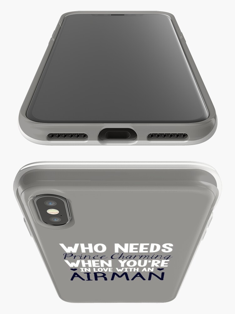 Alternate view of WHO NEEDS PRINCE CHARMING (AIRMAN) iPhone Cases & Covers