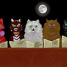 The Cats Chorus.  after Louis Wain. by albutross