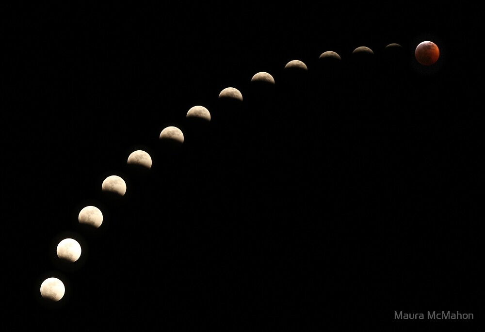 Super blood wolf moon full lunar eclipse 2019 by Maura McMahon