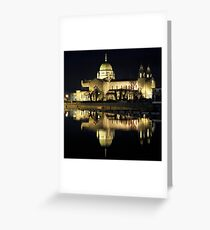 Galway Cathedral Night shot Greeting Card