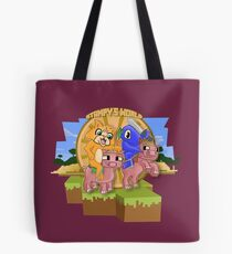 Mister Stampy Cat and Ballistic Squid riding piggies Tote Bag