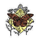 Monarchfalter-Skizze - Farbe von Hinterlund