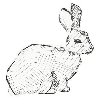 Escotilla De Conejo En Blanco Y Negro de maryhop