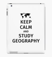 keep calm and study geography iPad Case/Skin