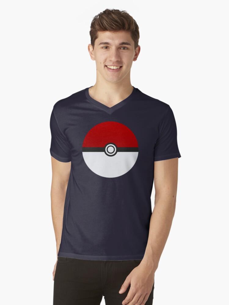 Poke Ball - Pokemon Mens V-Neck T-Shirt Front