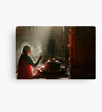 Praying. Madurai Canvas Print