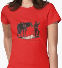 Bloody-Fox by tasmanianartist for Karl May Friends Fitted T-Shirt