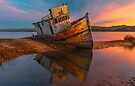 Point Reyes Shipwreck Sunrise by photosbyflood