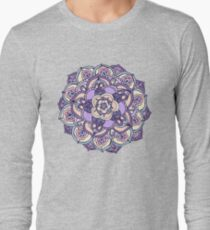 Aqua, Pink and Purple Doodled Pattern T-Shirt