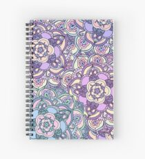 Aqua, Pink and Purple Doodled Pattern Spiral Notebook