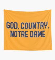 Gott, Land, Notre Dame Wandbehang