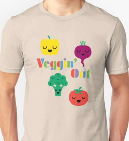 Veggin' Out (colored type) dark T-Shirt