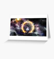 The Architect sacred geometry Greeting Card