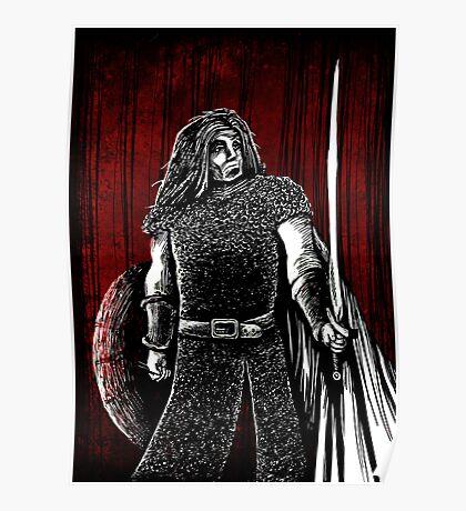 Den droeflijken strijt opten berch van Roncevale Poster