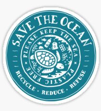 Plastikverschmutzung - Bitte halten Sie das Meer frei von Plastik Sticker