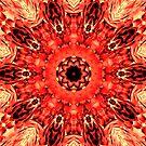 Rot Gelb Mandala von Costa100
