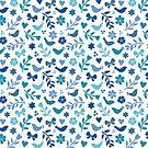 blue birds and butterflies by jacqui-grace