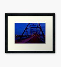 Walnut Street Walking Bridge-Harrisburg, PA Framed Print
