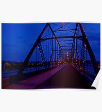 Walnut Street Walking Bridge-Harrisburg, PA Poster
