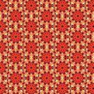 Rot Mandala Muster von Costa100