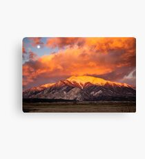 Mount Princeton At Best Light Canvas Print