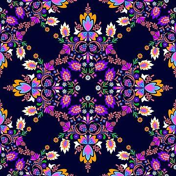 Mexican Folk pattern by belokrinitski