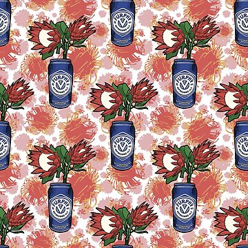 Furphy - An Australian Beer with Florals - Protea Pincushion by annaleebeer