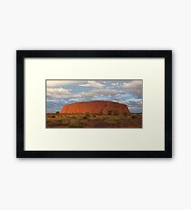 Uluru (also known as Ayers Rock) sunset - central australia Framed Print