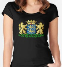 Friesland Coat of Arms, Netherlands Women's Fitted Scoop T-Shirt