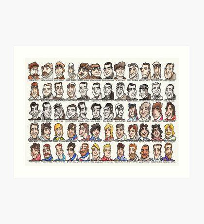 Sixty Grand Prix winning drivers, 1906 - present Art Print