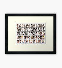 Sixty Grand Prix winning drivers, 1906 - present Framed Print