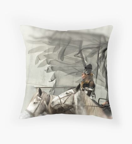 Ride of the Valkyries Throw Pillow